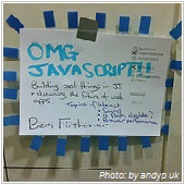 OMG javascript written in paper note