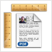 rulers with pdf document